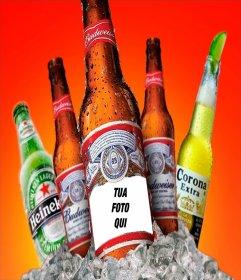 Fotomontaggio per mettere la tua foto su una birra