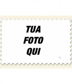 Collage di mettere la tua foto su un francobollo da fare online