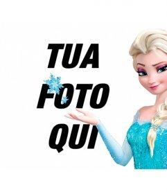 Collage online per mettere la tua foto con la principessa Elsa di Frozen