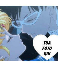 Sailor Moon fotomontaggio romantico con la vostra foto editing