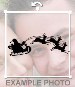 Mettere l'ombra e le renne di Snata Claus nella tua foto