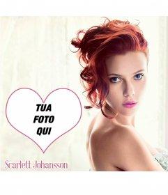 Fotomontaggio con Scarlett Johansson