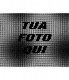 In linea effetto texture nera per le vostre foto