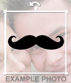 Sticker-adesivo da mettere sulla tua foto Hispter di un paio di baffi