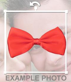 Cravatta rossa per mettere sulle tue foto con questo effetto fotografico online