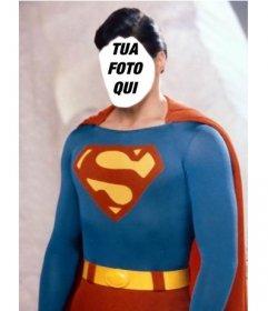 Fotomontaggio di diventare Superman con la foto che si desidera