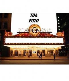 Fotomontaggio con la tua foto sul cartellone di un teatro