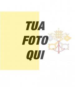 Filtro di mettere la bandiera del Vaticano con la foto di sfondo