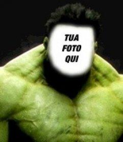 Incredibile Hulk fotomontaggio di mettere la vostra faccia