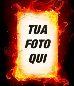 Fotomontaggio fuoco che si può fare con le tue foto online