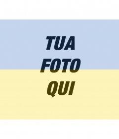 Collage della bandiera ucraina con la tua foto per fare online. Perfetto per il tuo avatar