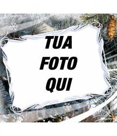 Cornice per foto con motivi invernali e di Natale. fondo
