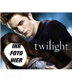 Fotomontage auf dem Plakat des Films Twilight erscheinen als Bella