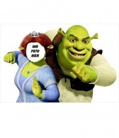 Seien Sie Fiona mit ihrem Mann Shrek Bearbeitung dieser Montage Online-