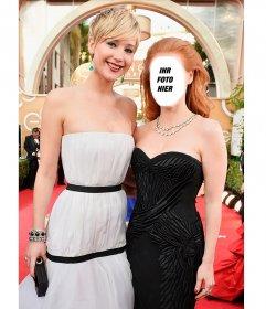 Pose mit Jennifer Lawrence mit dieser Fotomontage mit Ihrem Foto