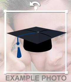 Fotomontage eines akademischen Hutes zum Aufsetzen Ihrer Fotos