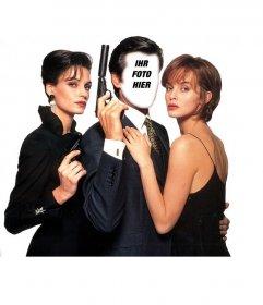 Fotomontage von Pierce Brosnan als James Bond 007. Setzen Sie Ihr Bild in der berühmten Spion