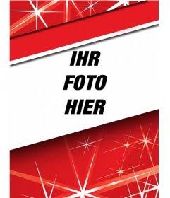 Markieren Sie Ihr Profilbild dieses Weihnachten mit diesem roten Rahmen