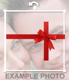 Ornament Geschenke können Sie Ihre Fotos setzen, um einen Effekt, dass eine Person ein Geschenk machen