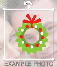 Aufkleber online mit Mistel auf Ihre Weihnachtsfotos schmücken
