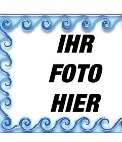 Umgeben Sie Ihre Fotos mit Wasser Bearbeitung dieses Online-Frame