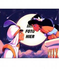 Fotomontage des Films Aladdin
