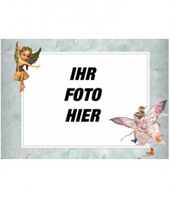 Bilderrahmen mit geflügelten fairy Bilder, die ein Foto online zu stellen