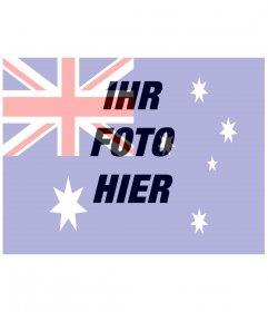 Australische Flagge zum online stellen Ihres Fotos