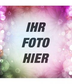Erstellen Sie eine soziale Netzwerke avatar Online-mit Blumen und bunten Lichtern auf Ihre Profil-Bild und zeigen Sie weg Ihren Entwurf