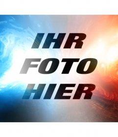 Online-Rot und Blaulichtfilter, um das Foto zu bearbeiten
