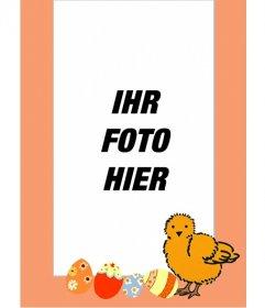 Küken Bilderrahmen und bemalten Eiern, ideal für Kinder