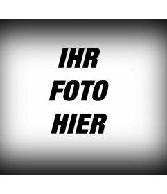 Fotografische Filter, der zu einem digitalen Bild, das von einem Rand zum schwarzen Farbverlauf Bild wie ein Foto-Editor besteht beantragen