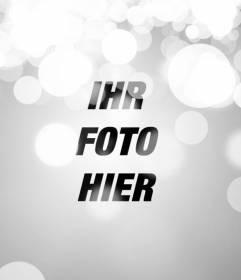 Effect für Fotos Bokeh, Unschärfe Lichter. Um Ihre Fotos online