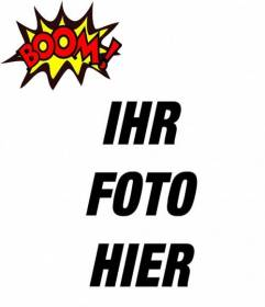 Effekt für Fotos BOOM! setzen Sie Ihr Foto!