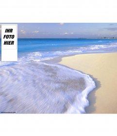 Strand Hintergrund für Twitter. Um es mit Ihrem Foto zu personalisieren
