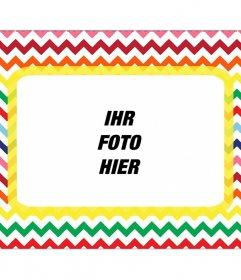 Förmigen Rahmen, um das Foto in vielen Farben setzen