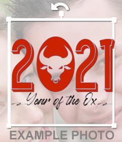 2021 neues Jahr Ochse