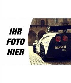 Komposition mit Corvette Racing neben Ihrem Bild