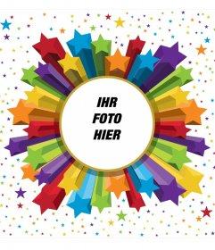 Photo Frame Farben und Sternen mit abgerundeten