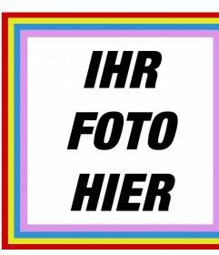 Glückliche quadratische Rahmen mit Farben, die Sie Ihre Fotos in kostenlos