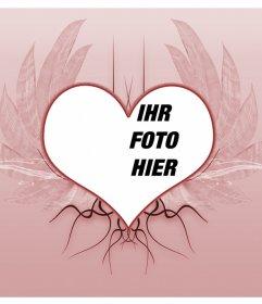 Berg geflügelten Herzen Tattoo-Motiv, um in Ihrem Fotografien setzen