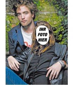 Fotomontage zu setzen, ein Gesicht zu Kristen Stewart, Robert Pattinson