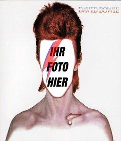 Fotomontage mit dem CD-Cover von David Bowie