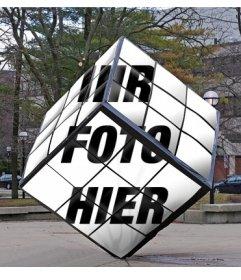 Rubiks Cube als Denkmal der Straße, wo Sie Ihr Bild setzen können