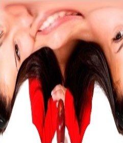 Deformieren Bilder Online einen Distortion-Effekt zu tun verzerrt das Bild