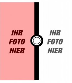 Fotomontage für zwei Fotos von Pokémon
