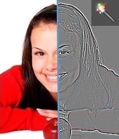 Bearbeiten Sie Ihr Foto mit diesem Kantenerkennungsfilter