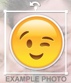 Wink Emoji in deine Fotos einfügen