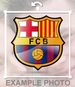 Fügen Sie den Barca-Logo, um Ihre Bilder mit diesem offiziellen Siegel-Aufkleber