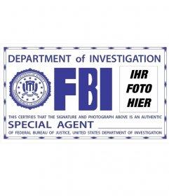 Fotomontage des FBI-Ausweises